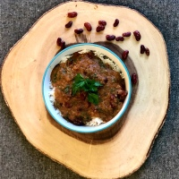 Rajma Chawal (Kidney beans curry with rice)